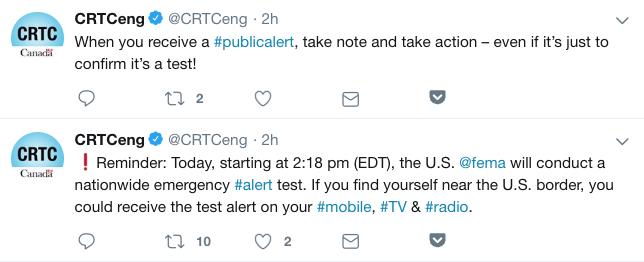 Crtc presidential alert