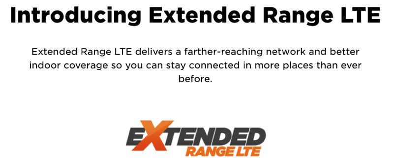 Extended range LTE freedom mobile