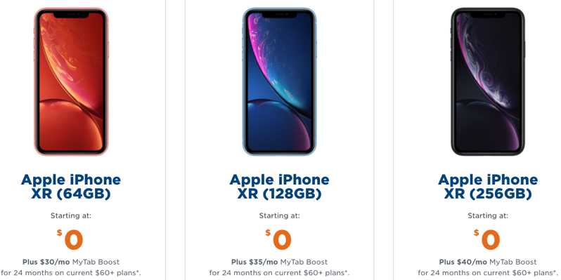 Freedom mobile iphone xr