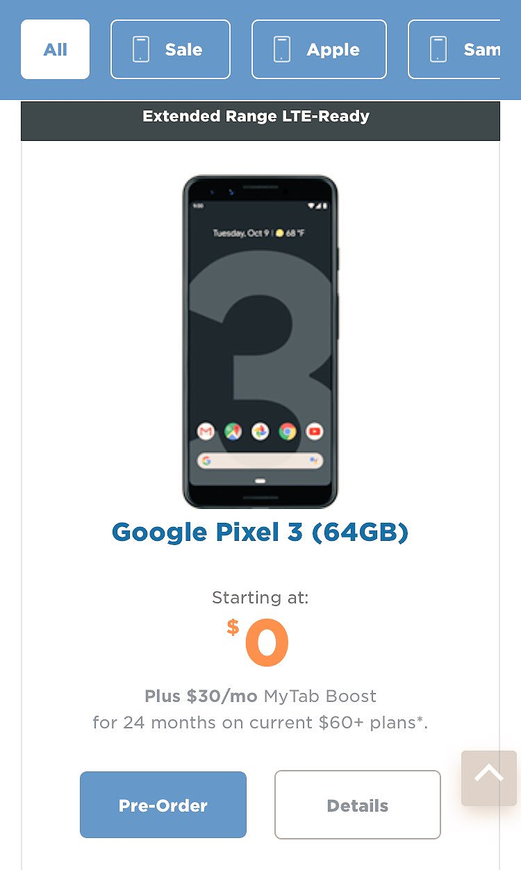 Google Pixel 3, 3XL Pricing in Canada Leaks on Freedom