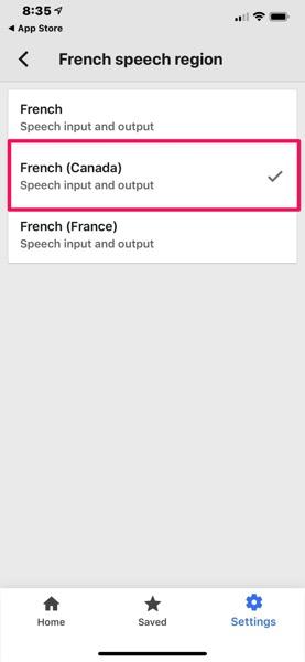 Google translate french canadian