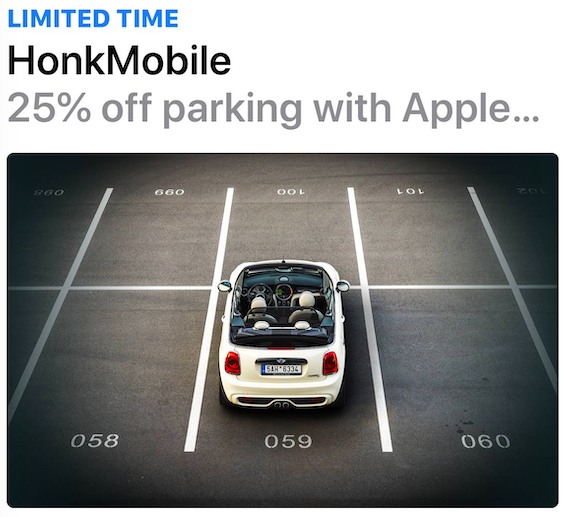 Honk mobile apple pay