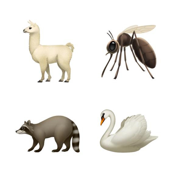 Ios 121 emoji update llama mosquito swan raccoon 10012018 carousel jpg large
