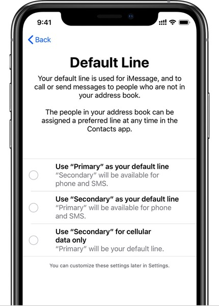 Ios12 iphone setup dual sim default line cropped