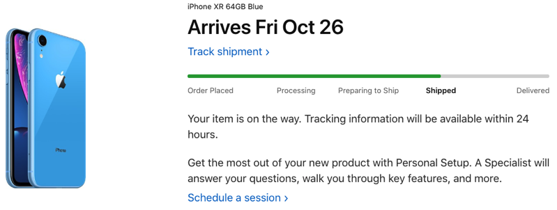 Iphone XR shipped canada