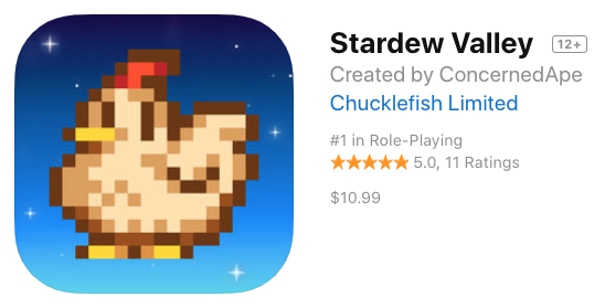 Stardew Valley for iPhone and iPad Launches in Canada for $10.99