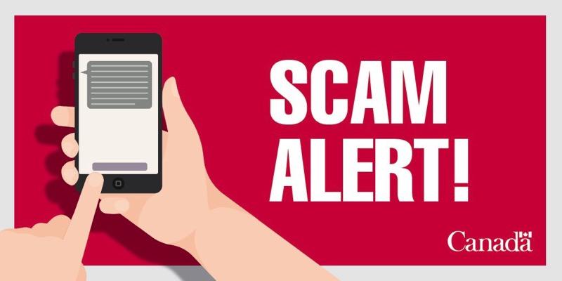 Text scam alert canada