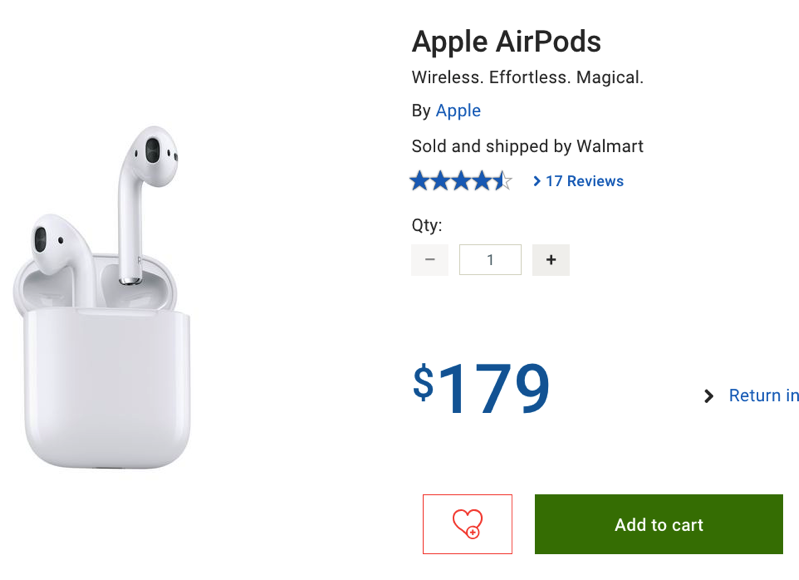 9dc6a5480f7 Apple AirPods Sale: Now $179 at Walmart Canada, Save $40 Off ...