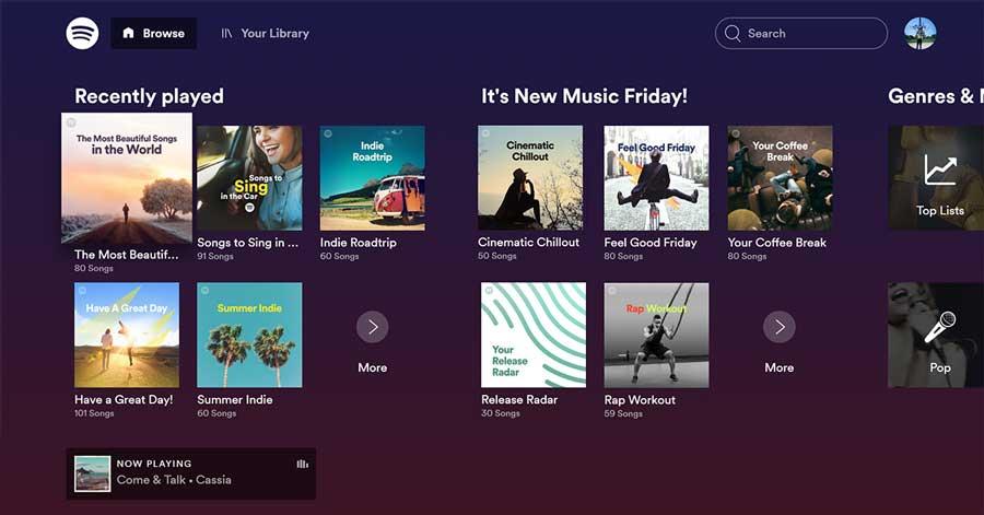 Spotify Landing Page 900