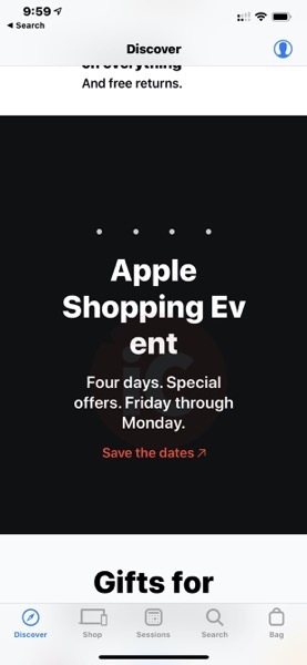 Apple canada black friday event 2018