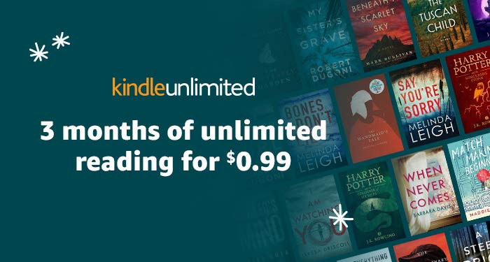 Kindle unlimited 3 months promo