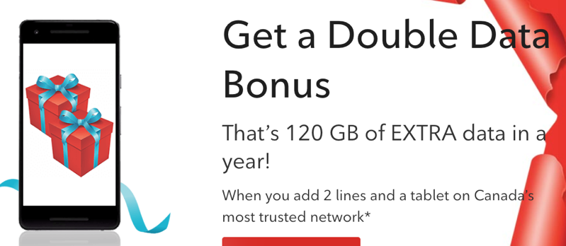 Rogers black friday double data bonus