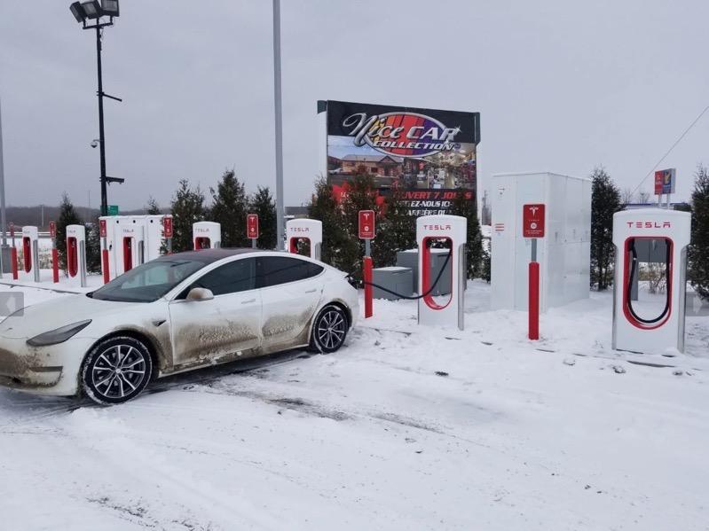 Tesla supercharger yamachiche quebec