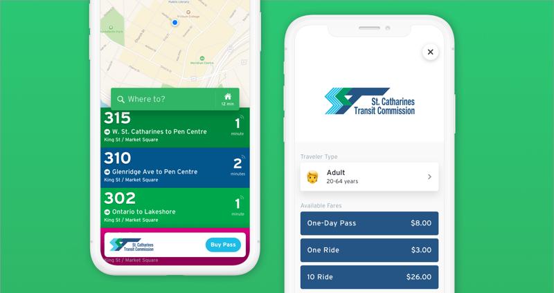 Transit app tickets st catherines