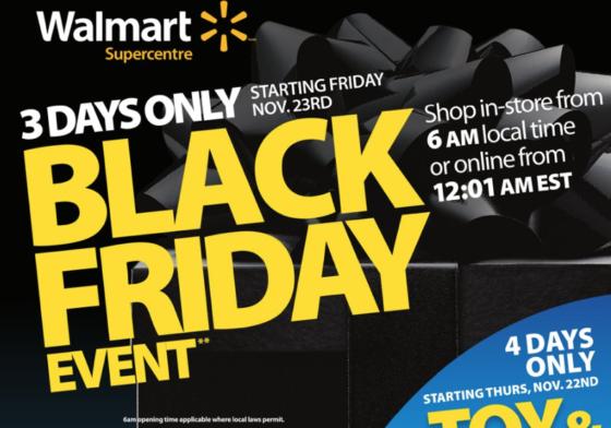 Walmart Black Friday 2018 Canada Deals Flyer Reveals What?s on Sale [LIST]