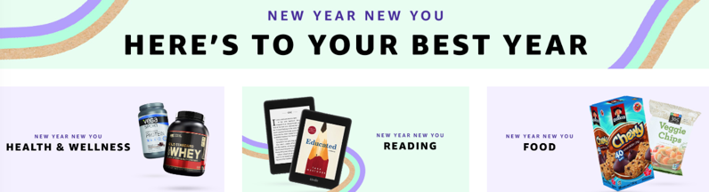 Amazon new year new you store
