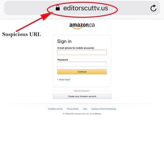 Amazon phishing scam mb