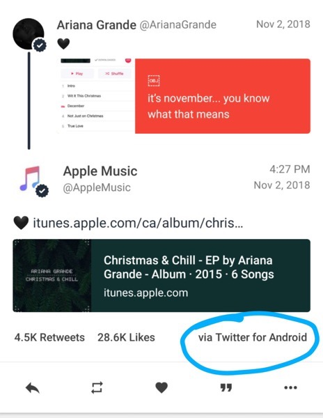 Apple music twitter android