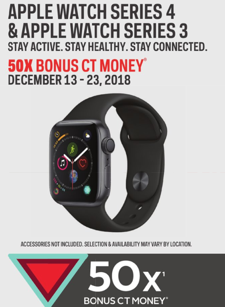Apple Watch Series 3 4 For 20 Off At Sport Chek With 50x Canadian Tire Money Bonus Iphone In Canada Blog