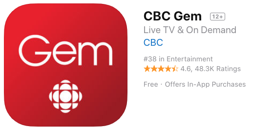 CBC TV for iOS Rebrands to ?CBC Gem?, Also Available on Apple TV 4/4K