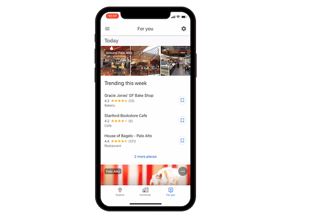 Google Maps' For You recommendations come to iOS