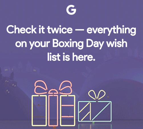 Google boxing day canada