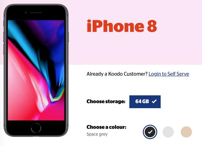 Iphone 8 koodo