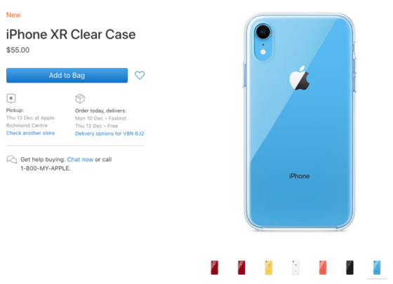 You Can Now Buy Apple's iPhone XR Clear Case for $55 in Canada
