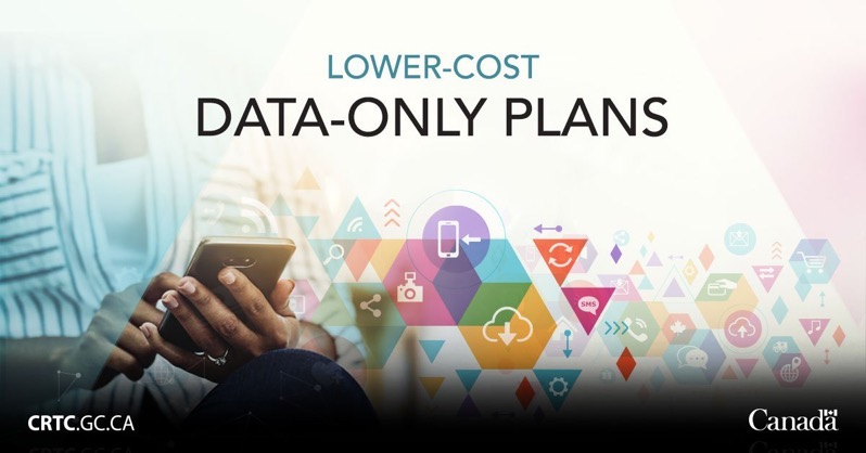 Lower cost data only plans