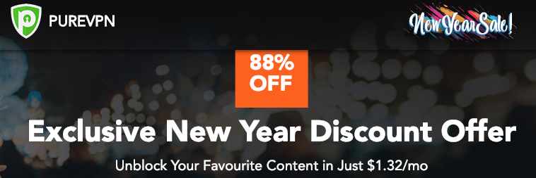 Purevpn new year sale