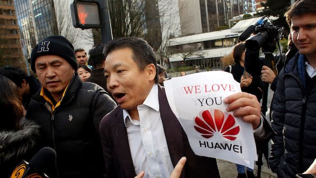 Chinese firms come together to show support for Huawei