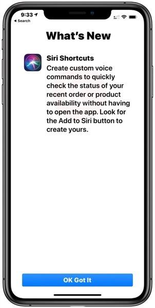 Siri shortcuts apple store