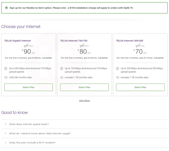 Telus Launches 950 Mbps Gigabit, 750 Mbps Fibre Internet Plans
