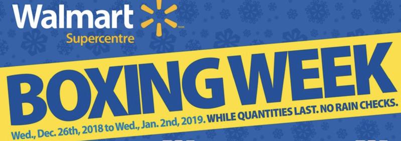 Walmart boxing week sales