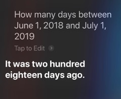 20190107 Siri days between two dates