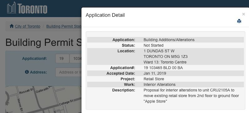 Apple eaton centre building permit 800x365
