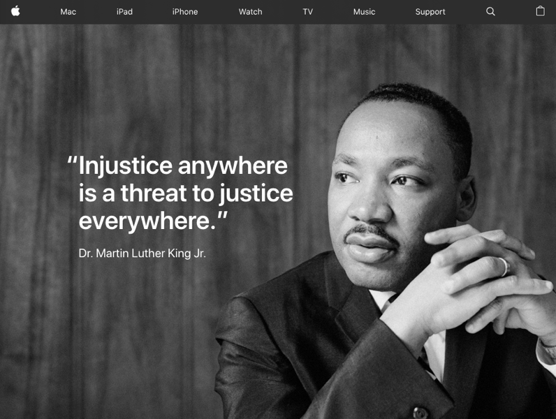 Apple website MLK JR 2019