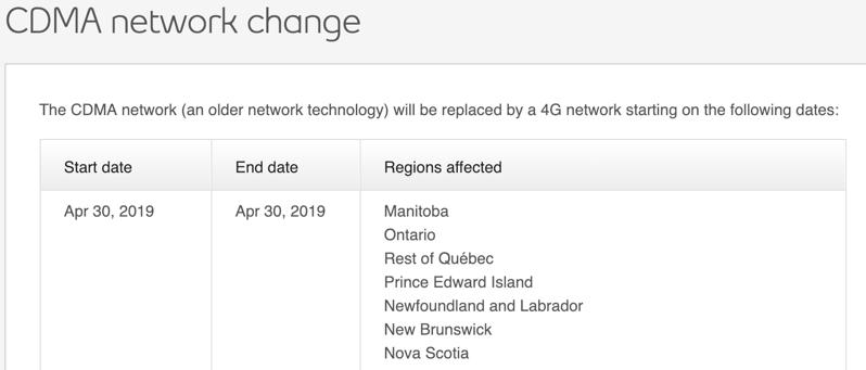 Bell cdma network shutdown