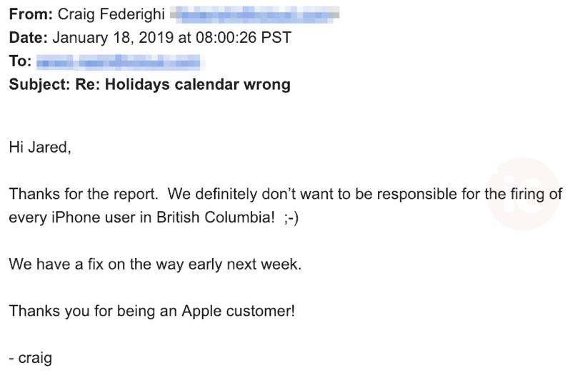 Craig federighi email