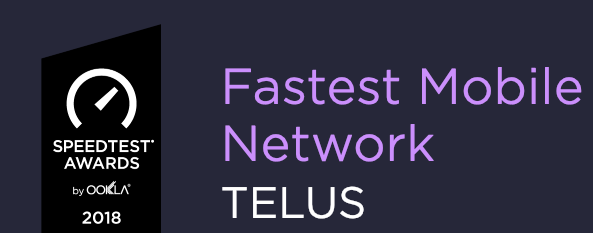 Fastest mobile network telus