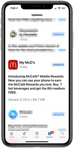Mcdonalds ios stamp card