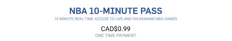 Nba 10 minute pass