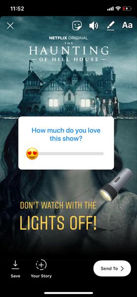 Netflix instagram story 1