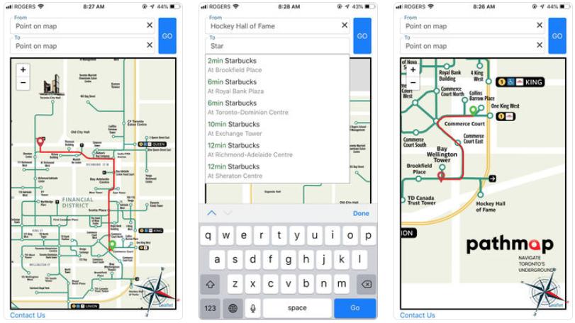 Pathmap toronto ios app