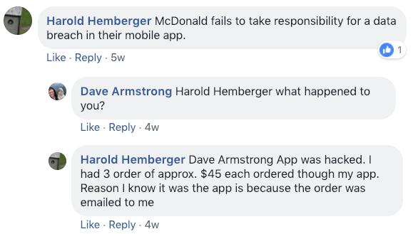 McDonald s facebook page 2