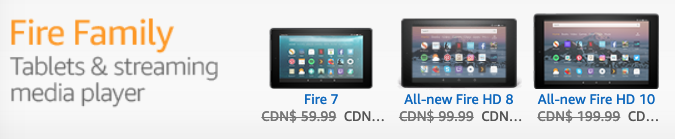 Amazon Fire Table Sale