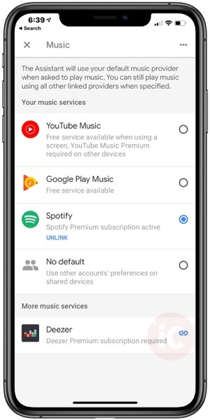 Apple music google home settings