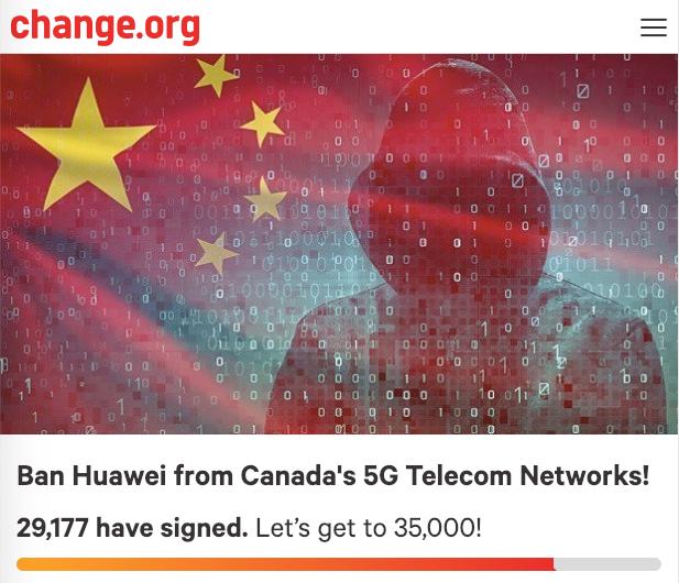 Ban huawei petition