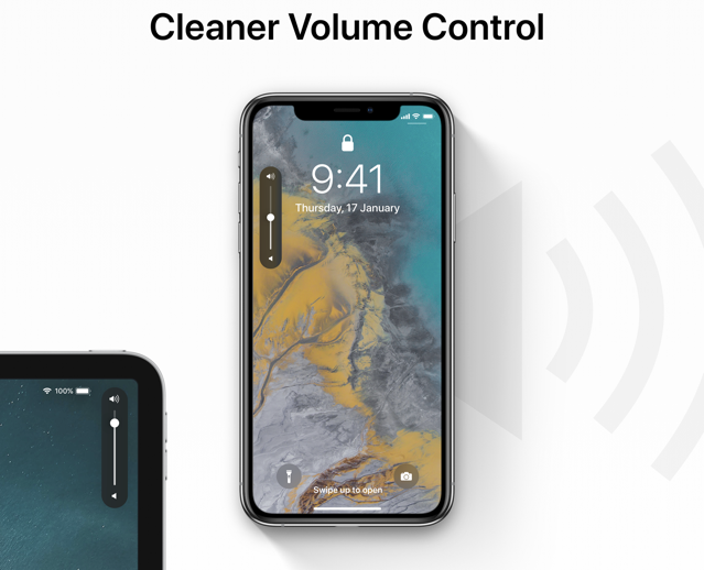 IOS 13 volume UI