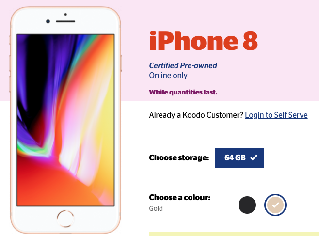 Koodo refurb iphone 8